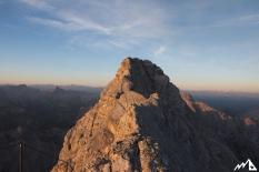 Watzmanngrat im Morgenlicht.