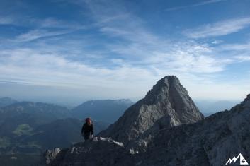 Auf den letzten Metern zum Gipfel der Südspitze.