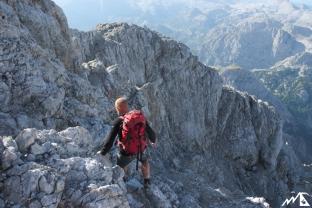 Abstieg von der Südspitze.