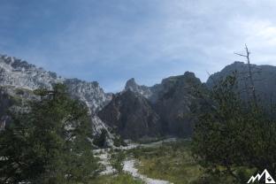 Blick vom Wimmbachgries Richtung Watzmann.