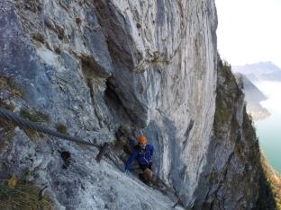 Anspruchsvolle Kletterei gepaart mit traumhafter Aussicht.
