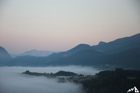 Blick auf den Watzmann und Untersberg