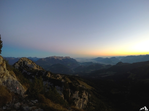 Sonnenaufgang über Salzburg