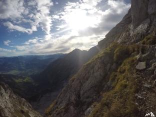 Blick vom Schustersteig Richtung Kuchler Kamm.
